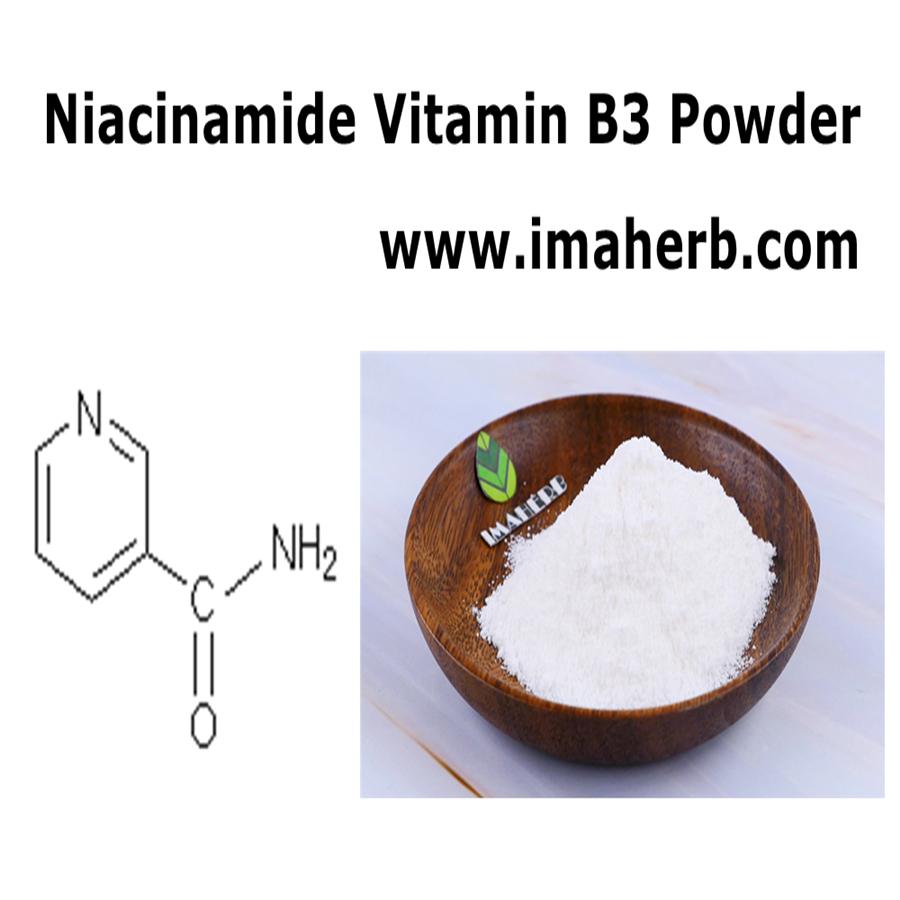IMAHERB Grandes existencias Precio competitivo Normas de la USP PC Garantizado Nicotinamida Niacinamida Vitamina B3 Polvo