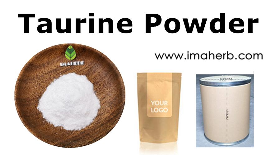 IMAHERB proporciona precio al por mayor L-Taurina en polvo Suplemento nutricional Polvo de taurina potenciador natural de alta calidad