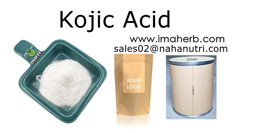 Polvo de ácido kójico de grado cosmético de ácido kójico popular de alta pureza para blanquear la piel de IMAHERB