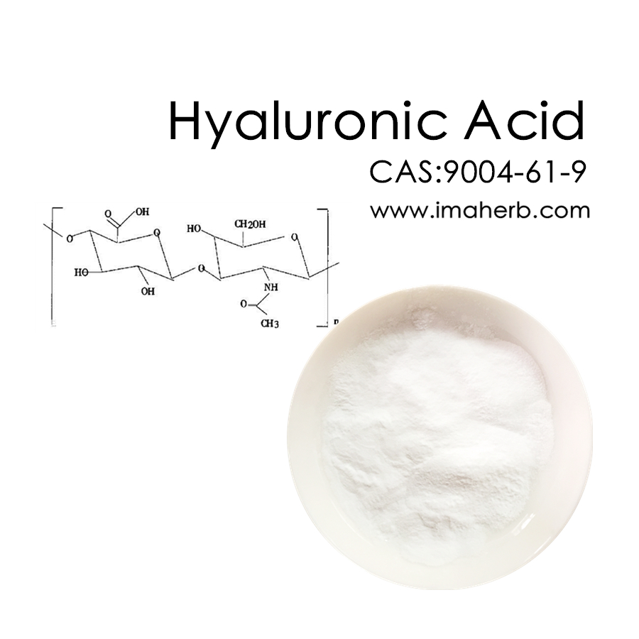 IMAHERB Customer Most Buy Skin Care No CAS 9004-61-9 Poudre d'acide hyaluronique hyaluronique d'acide de poids moléculaire différent