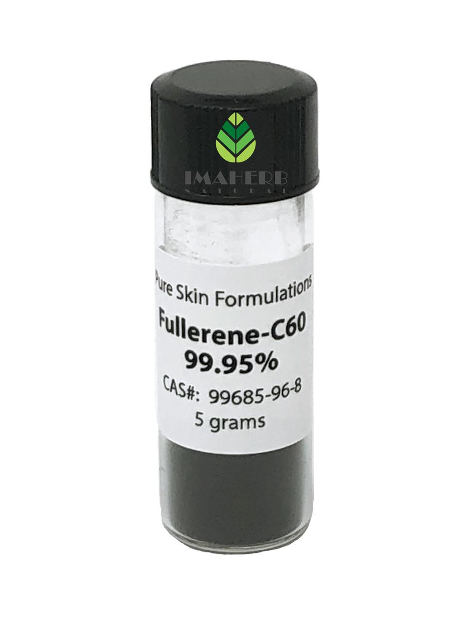 IMAHERB ofrece alta pureza 99.5% 99.9% y 99.95% Suplemento nutricional de grado alimenticio C60 Fullereno C60 Polvo Cas 99685-96-8